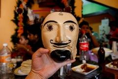 Máscara xantolera con más de 100 años de antigüedad. Huejutla Centro, Hidalgo 2014.